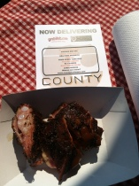 Final nod to local BBQ - County on Taylor Street served up delish meat!