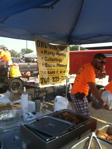 I just loved these guys.  Good meat and there were four dudes in orange shirts banging out a ton of BBQ and their sign says they do BBQ, Parties and Snowplowing - so I like a multi-talented food staff!!