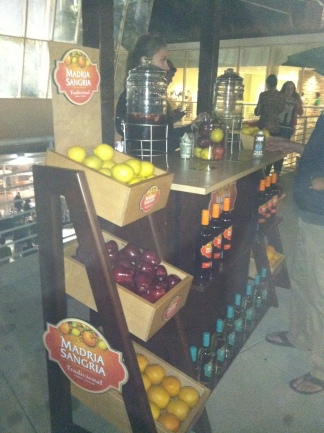 Hello Sangria! and the tastings were frequent and plentiful