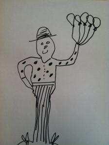 It is a clown.  In case you were wondering.
